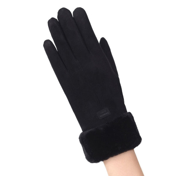 Autumn Cycling Women Gloves Velvet Keep Warm Touch Screen Gloves Full Finger Windproof Winter Gloves mittens Guantes Muje