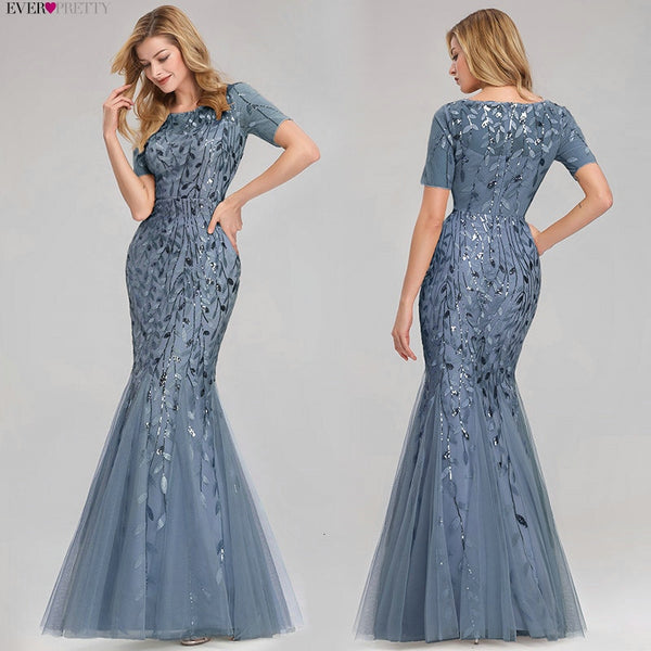 Womannewstyle Sexy Sequined Mermaid Prom Dress