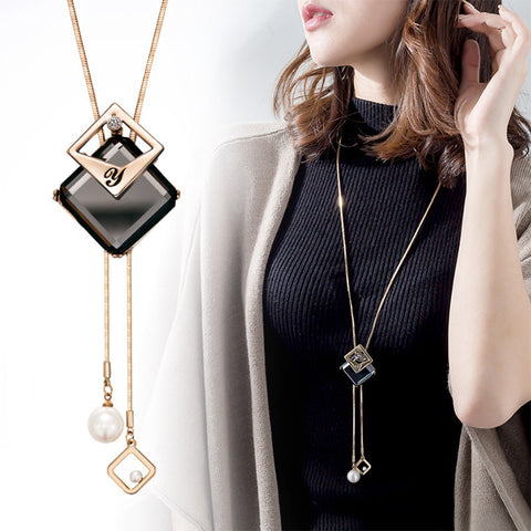 Womannewstyle Long Necklace & Pendant