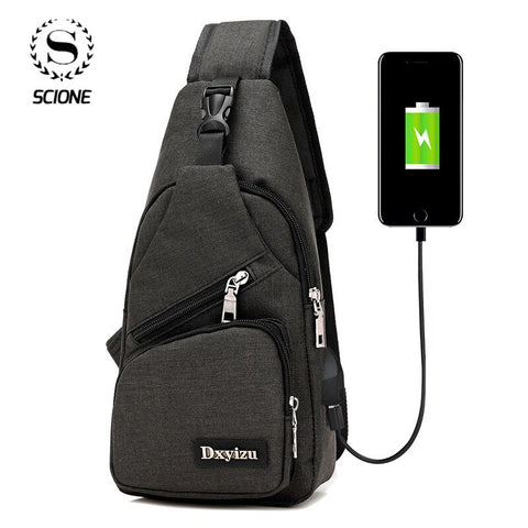 Womannewstyle Sport USB Charging Crossbody Bags