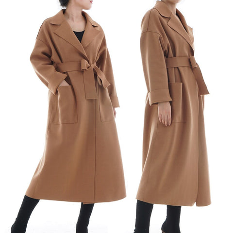 Womannewstyle Muslim Winter Woolen Coat Long Jacket