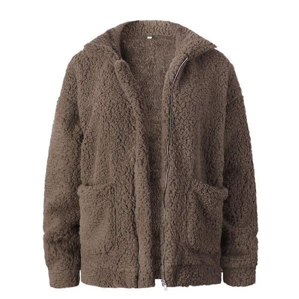 womannewstyle Faux Fur Coat Jacket