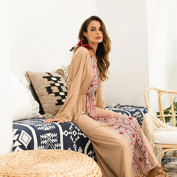 Womannewstyle Maxi Long Sleeve Dress
