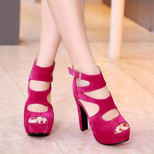 Womannewstyle Summer European and American sexy super high heel women shoes
