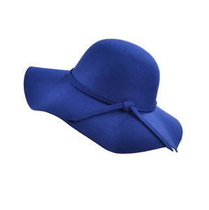 Womannewstyle Fashion Fedoras Vintage Pure Women's Beach Sun Hat