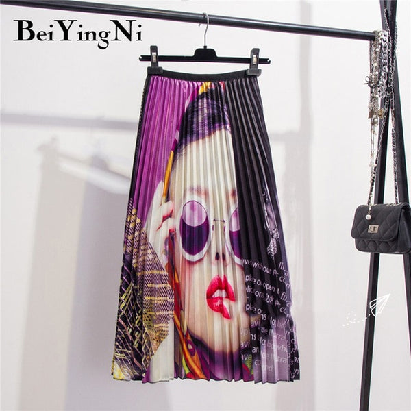 28 Styles Europe Cartoon Pattern Pleated Skirts