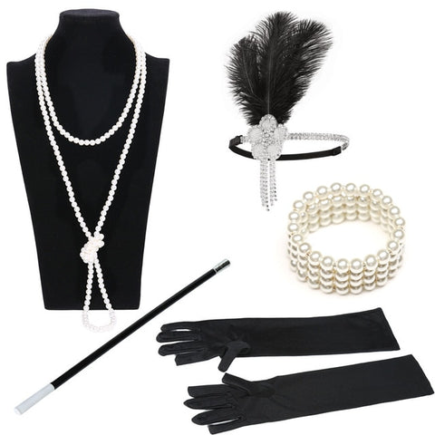 Womannewstyle 1920s Great Gatsby Party Costume Accessories