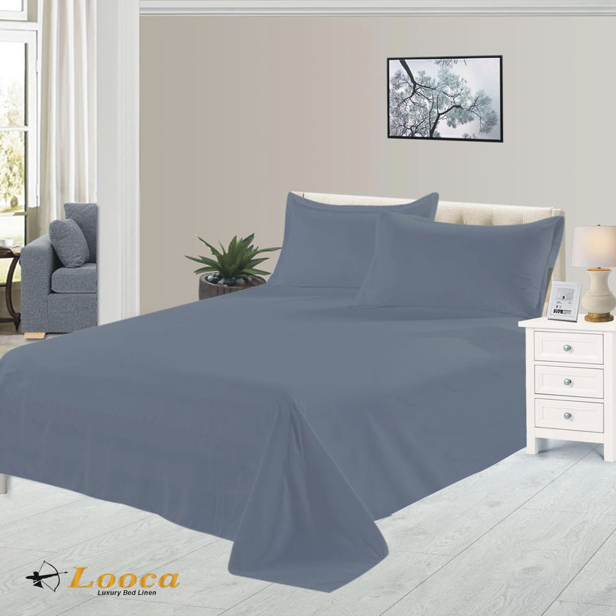 Luxury Quality Plain Dyed Gray Flat Sheet