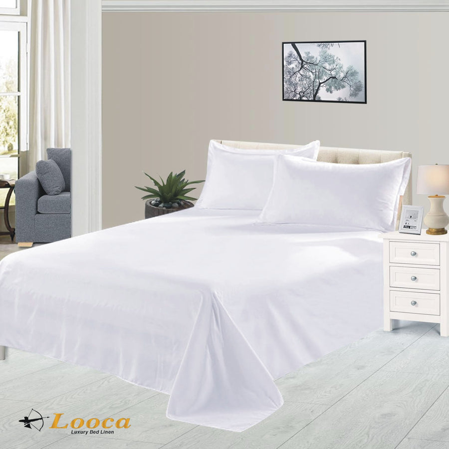 Luxury Quality Plain Dyed White Flat Sheet