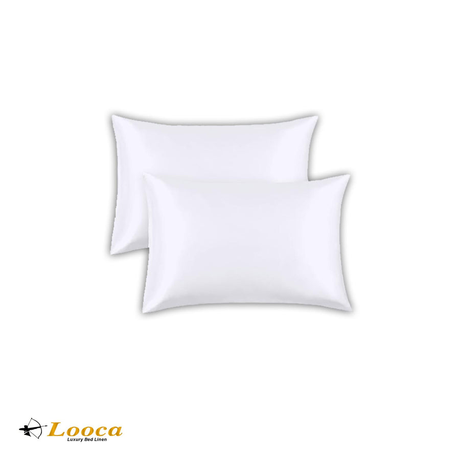 Luxry Quality Plain Dyed Oxford White Pillow Cases Pair
