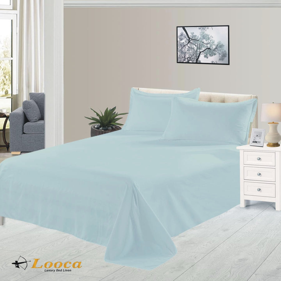 Luxury Quality Plain Dyed Duck Egg Flat Sheet