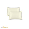 Luxry Quality Plain Dyed Oxford Cream Pillow Cases Pair