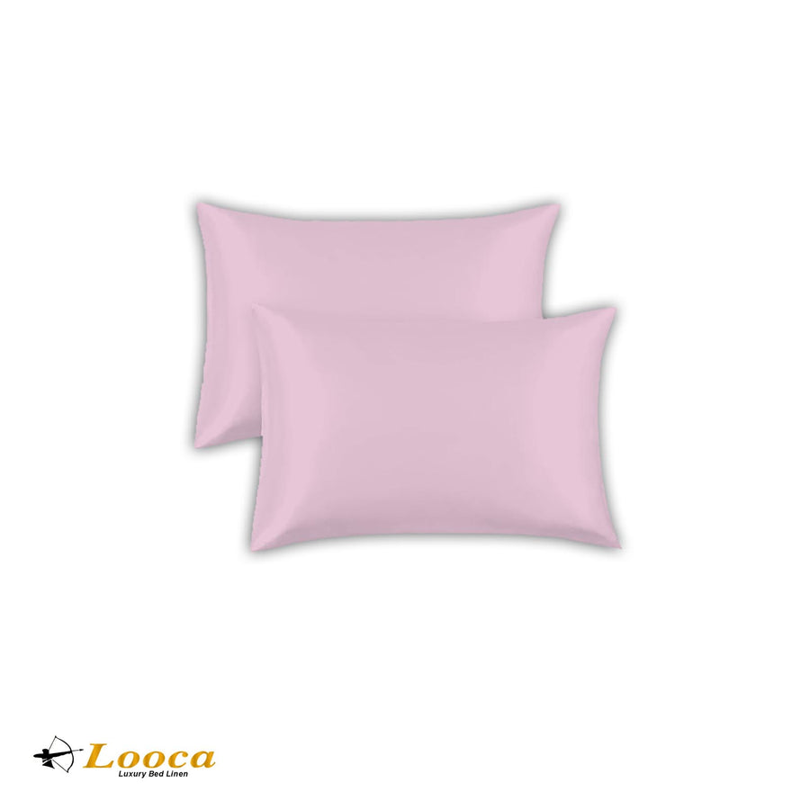 Luxry Quality Plain Dyed Oxford Pink Pillow Cases Pair