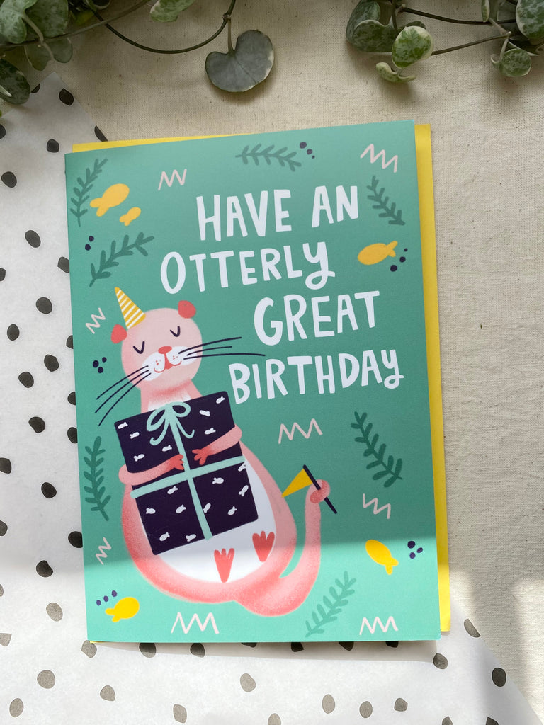 Have an Otterly Great Birthday! Birthday Card