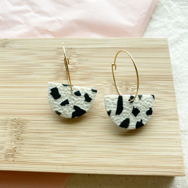 Dalmatian Print Hoop Earrings