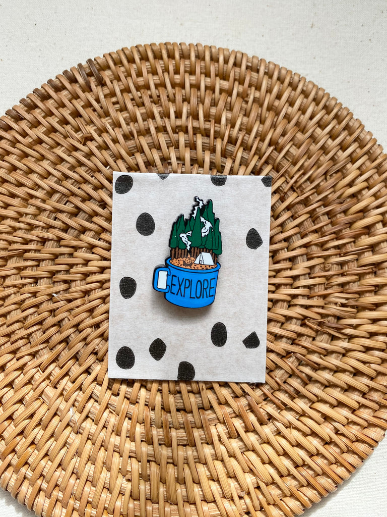 Explore Painted Enamel Badge
