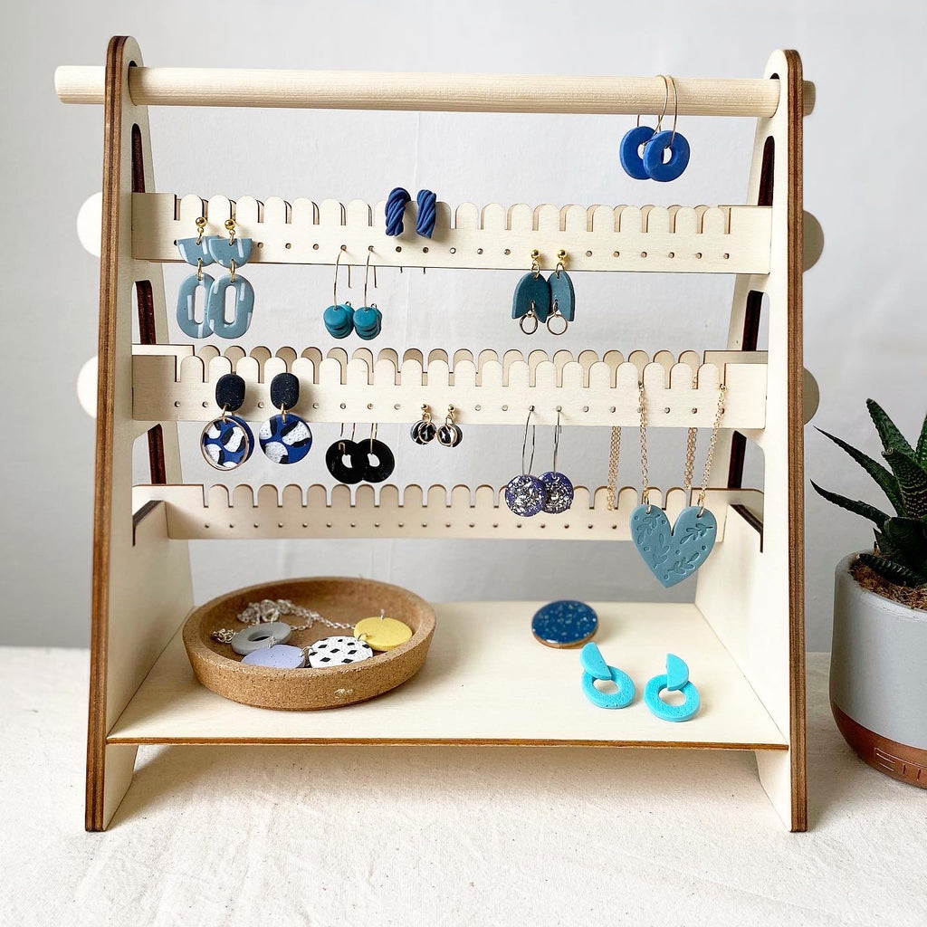 Medium Adjustable Earring Stand/ Plywood Stand