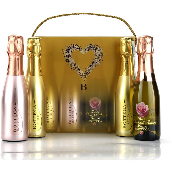 Bottega Sparkling Wines 4 x 20cl Gift Pack Veneto, Italy