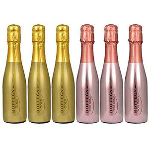 Bottega Sparkling Wine Mixed Case of 3 x Rose & 3 x Gold 20cl
