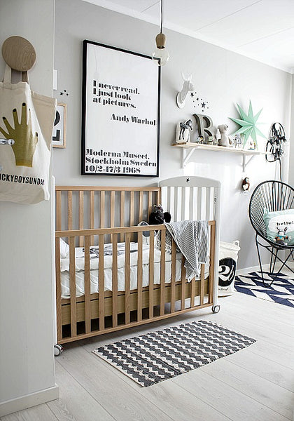 How you can create a scandinavian inspired monochrome nursery deco baby - Room bebe cocktail scandinavian ...