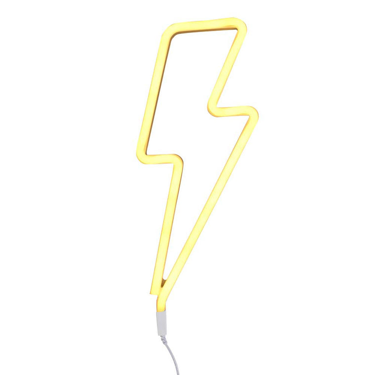 Little Lovely Company Neon LED Light - Yellow Lightning Bolt
