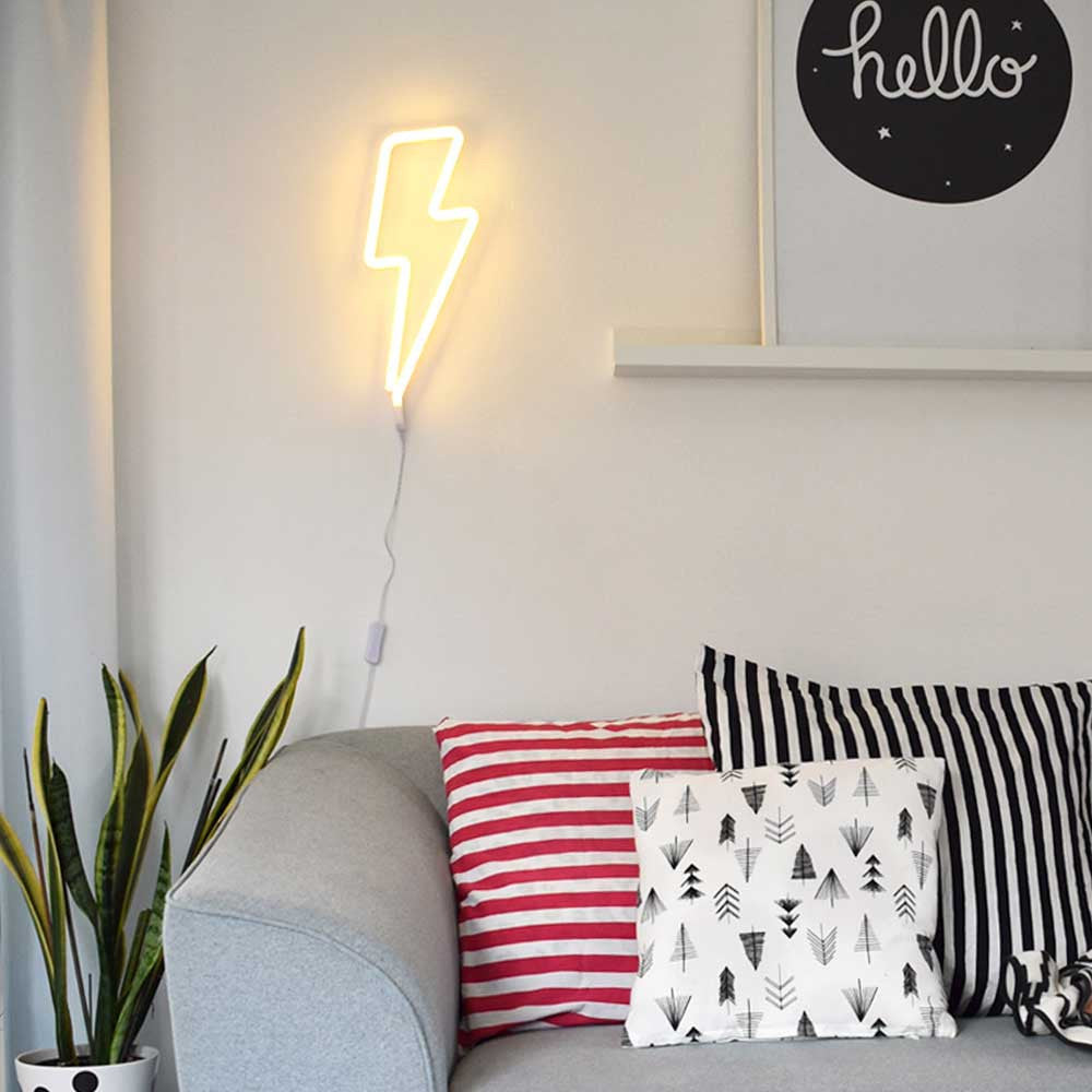 Little Lovely Company LED Neon Light - Yellow Lightning Bolt