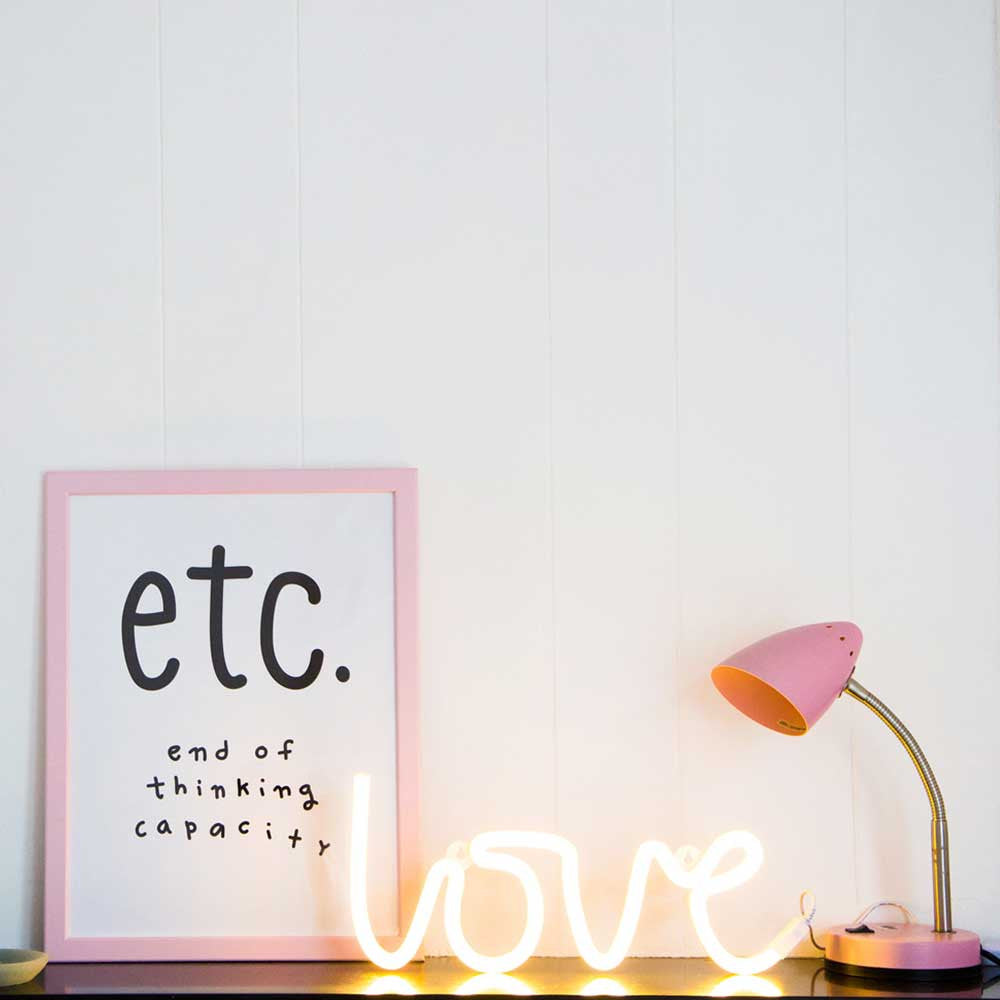 Little Lovely Company LED Neon Light - Yellow LOVE