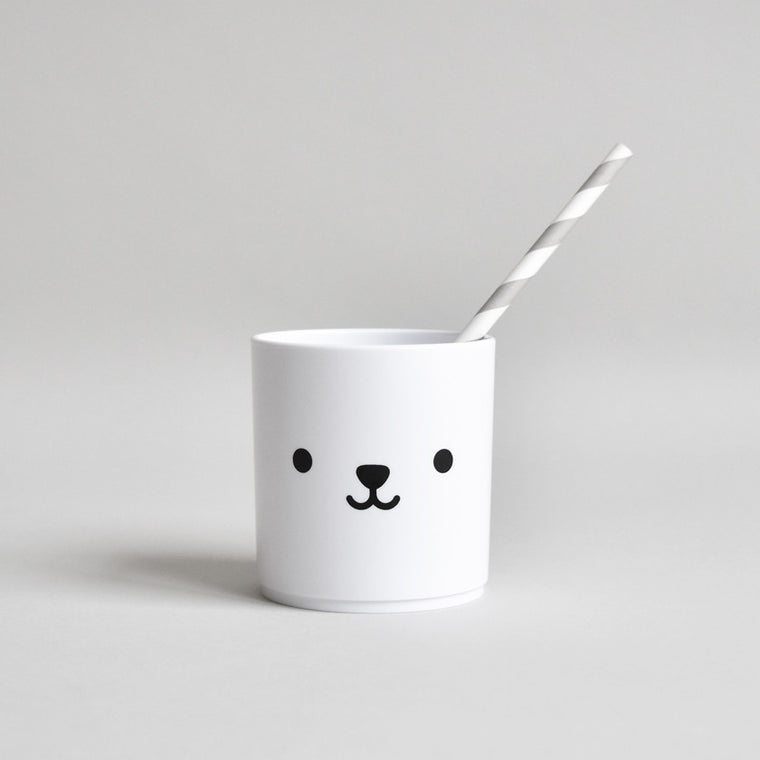 Buddy and Bear White Tumbler - Bear