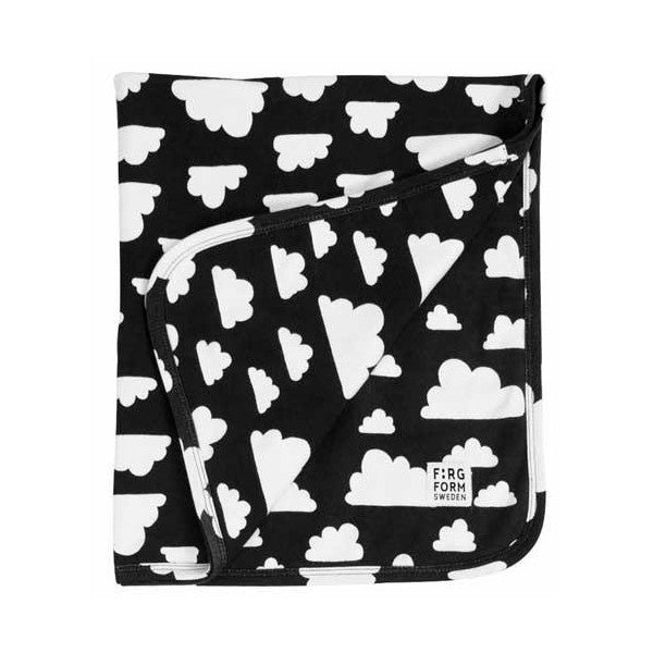 Farg Form Moln / Cloud Baby Blanket - Black