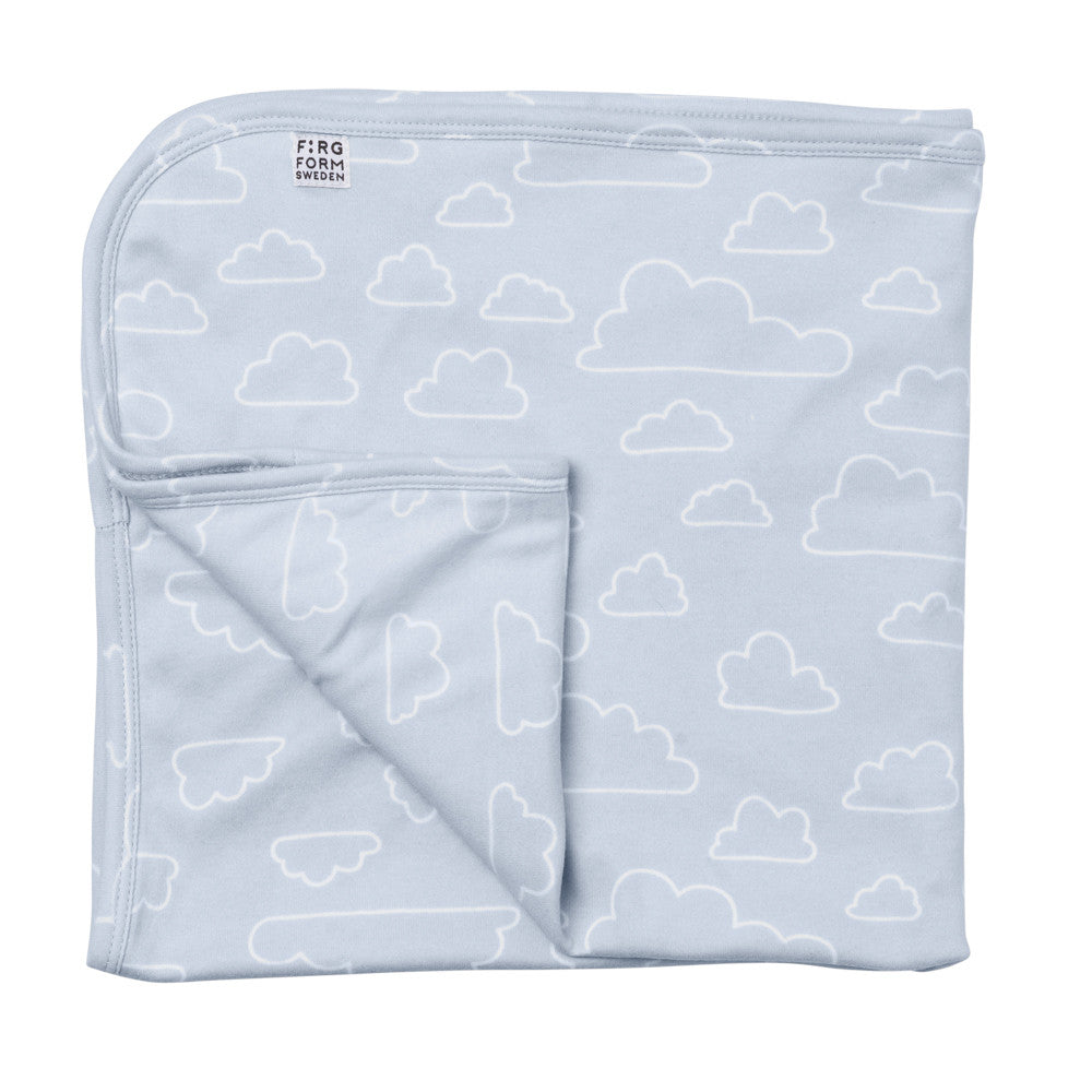Farg Form NEW! Moln / Cloud Outline Baby Blanket - Blue