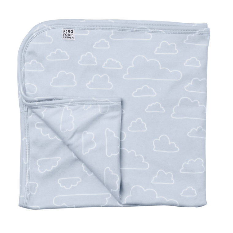 Farg Form Organic Cotton Cloud Baby Blanket - Blue