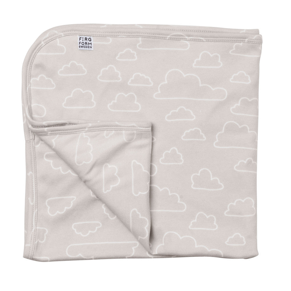Farg Form NEW! Moln / Cloud Outline Baby Blanket - Natural