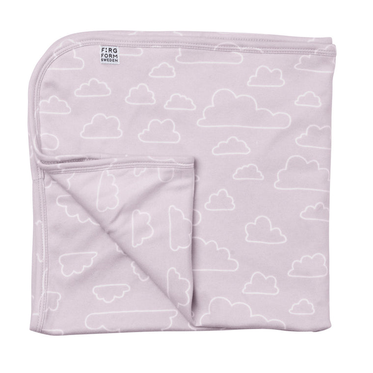 Farg Form NEW! Moln / Cloud Outline Baby Blanket - Pink