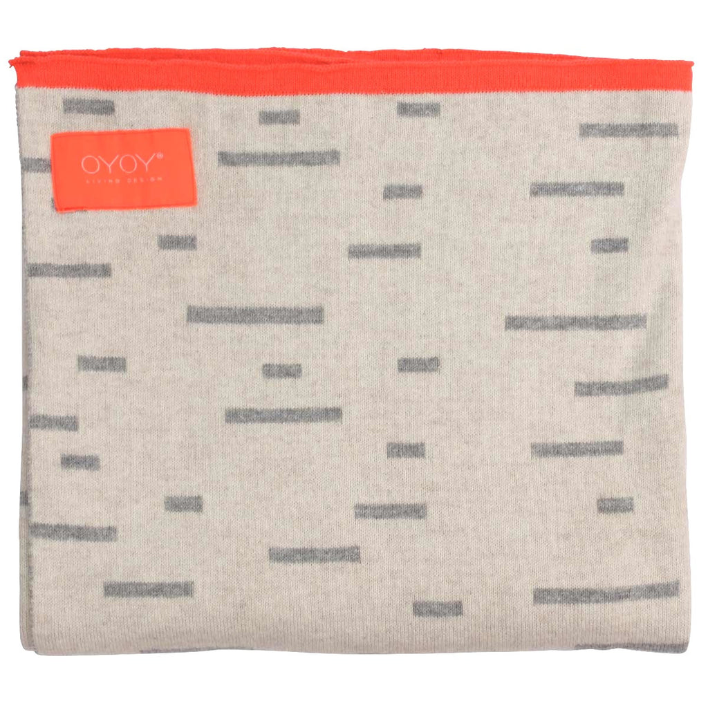 OYOY Smilla Plaid Baby Blanket - Grey