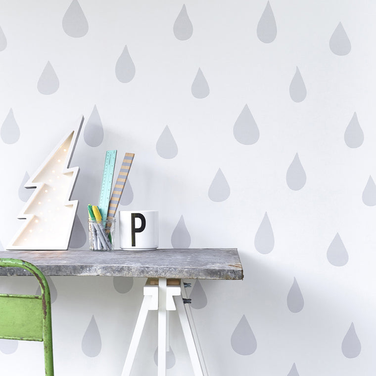 Hibou Home Raindrops wallpaper - more colours