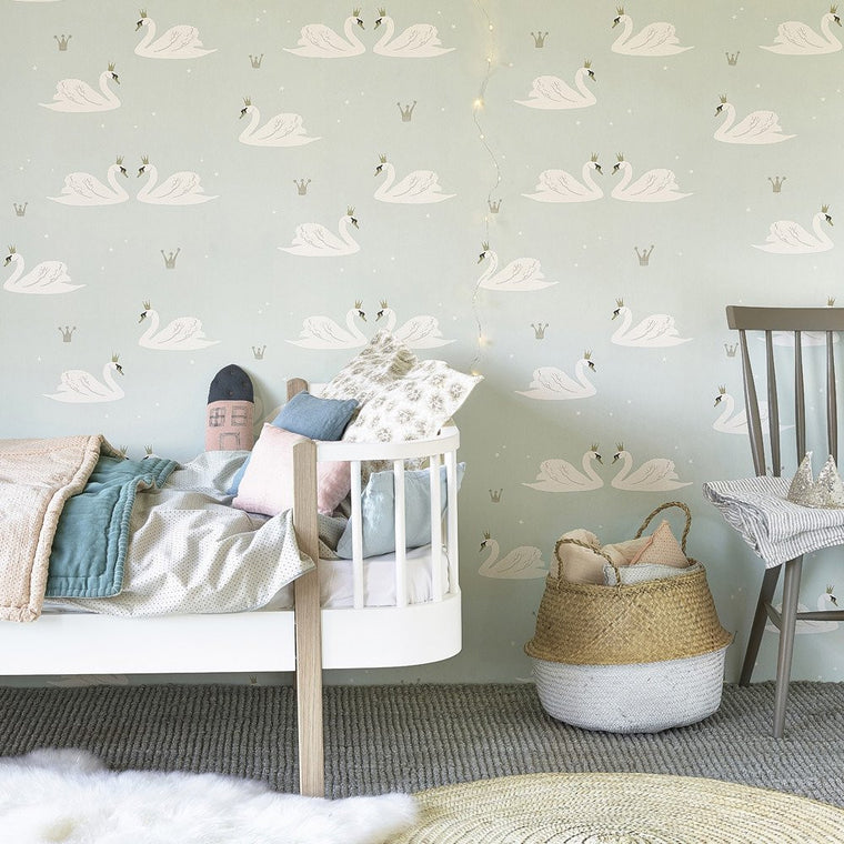 Hibou Home Swans wallpaper - more colours
