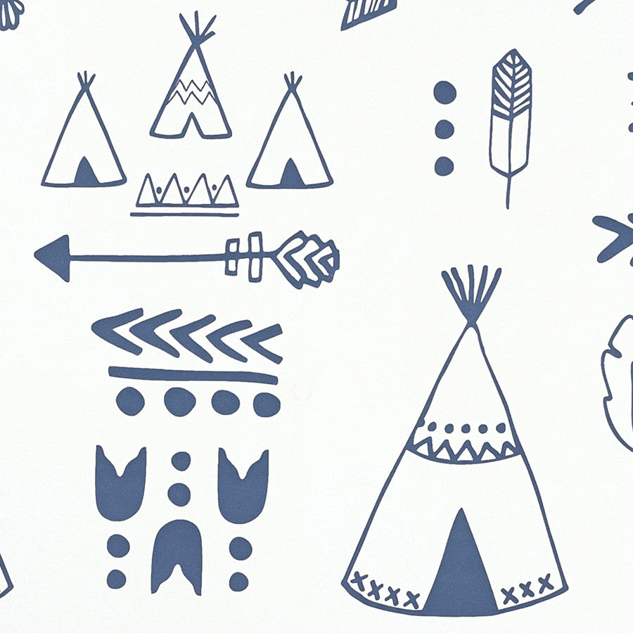 Hibou Home Teepees wallpaper - more colours