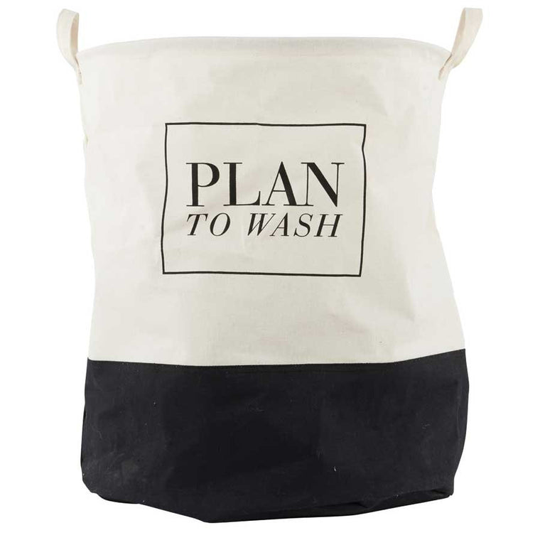 House Doctor Laundry bag - 'plan to wash'
