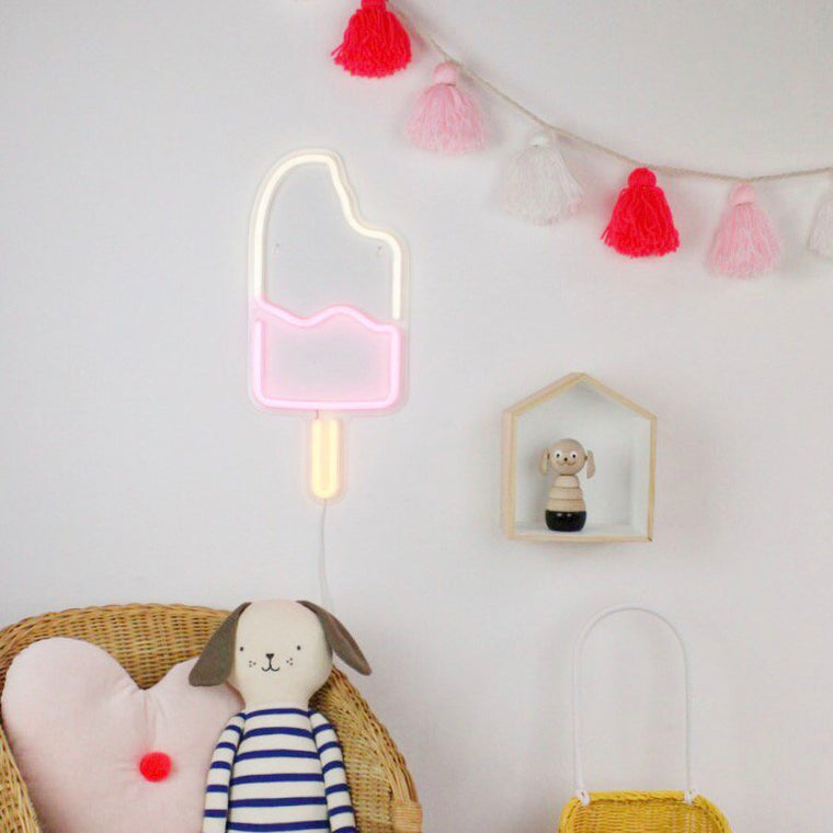 Gingersnap Ice Lolly Neon Light