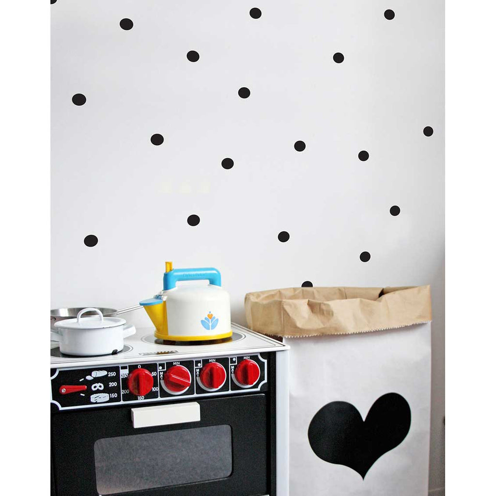 Jolis Momes Confetti Wall Stickers Black