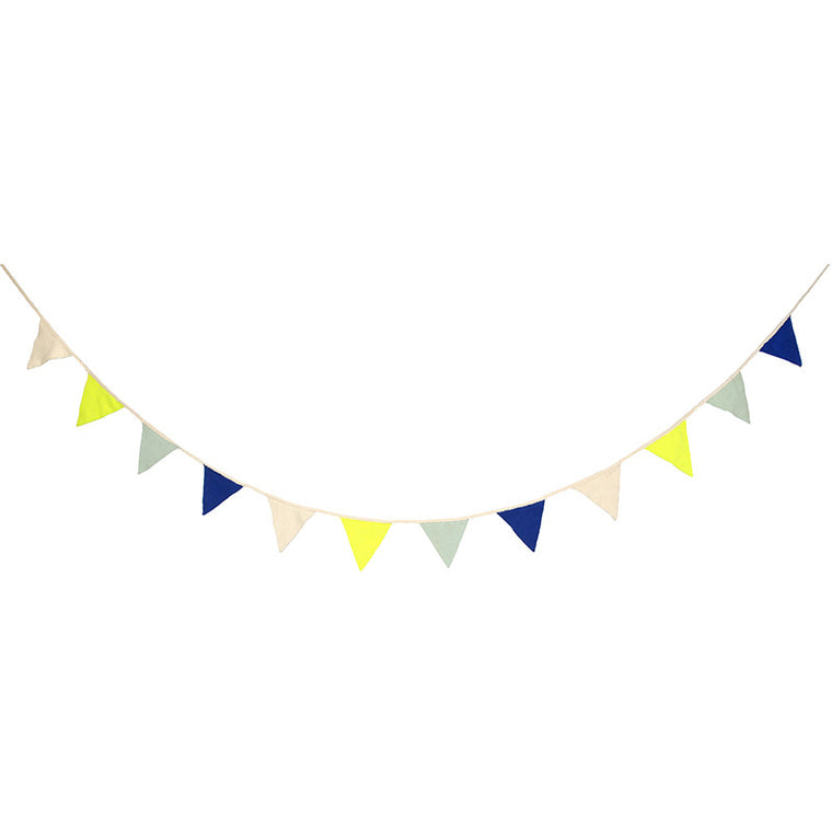 Meri Meri Knitted Flag Bunting Garland - Blue