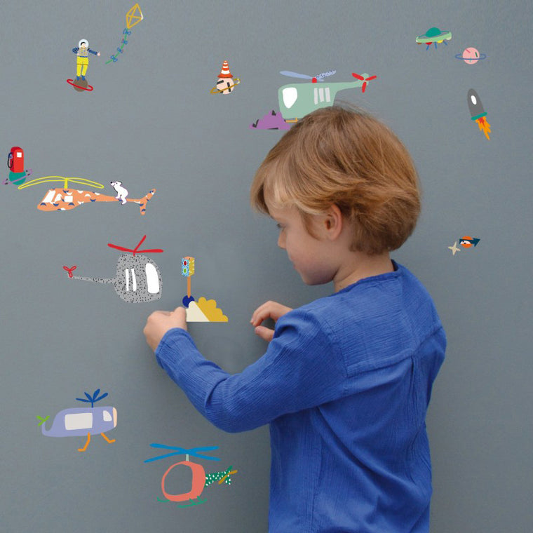 Mimi'Lou Air Traffic Wall Stickers