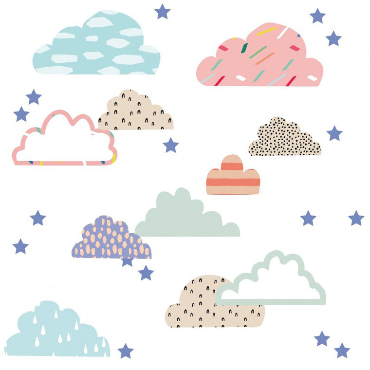 Mimi'Lou Clouds & Stars Wall Stickers
