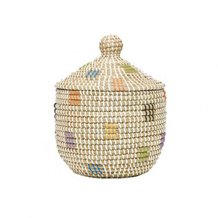 Olli Ella Lidded Storage Basket - Geo