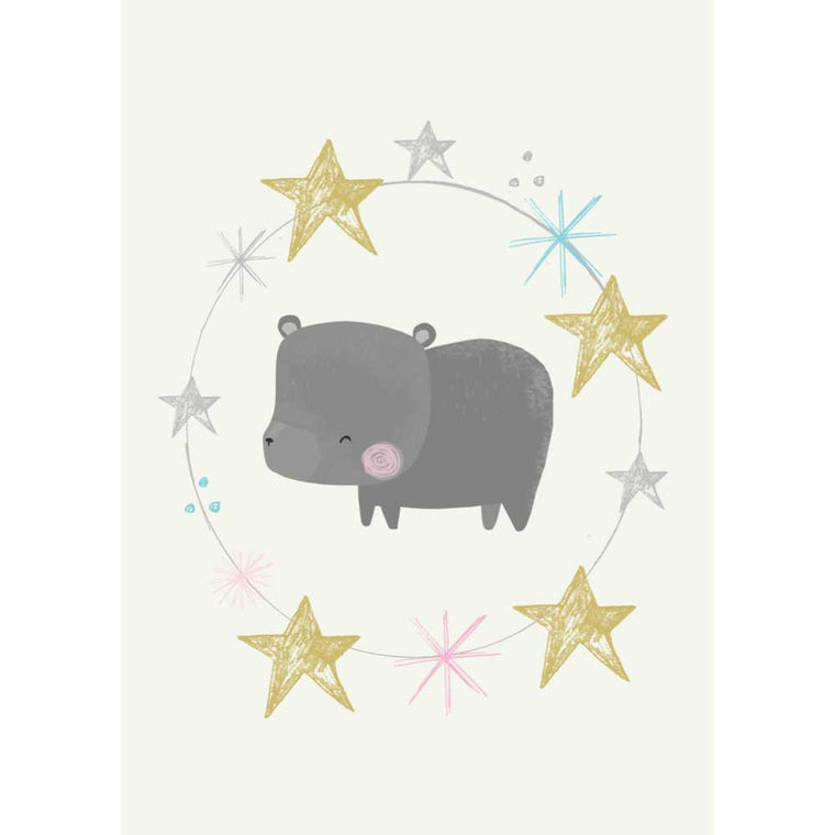Bear and Stars Postcard