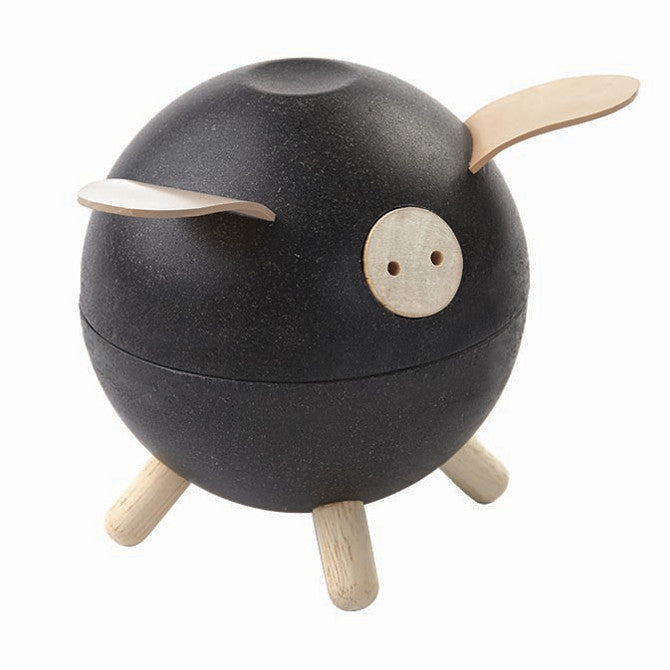 Plan Toys Wooden Piggy Bank - Black