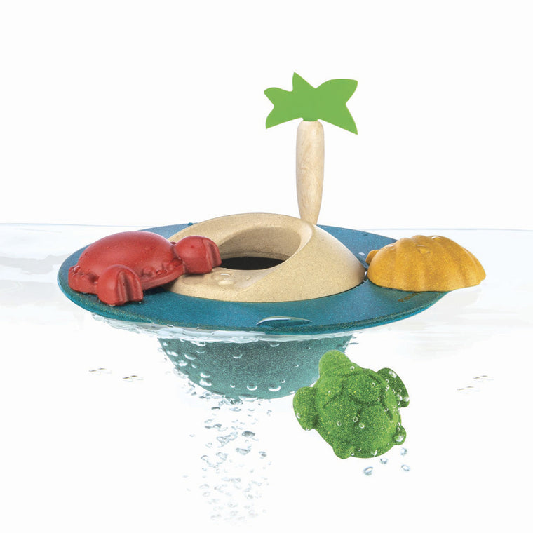 Plan Toys Floating Tropical Island Bath Toy