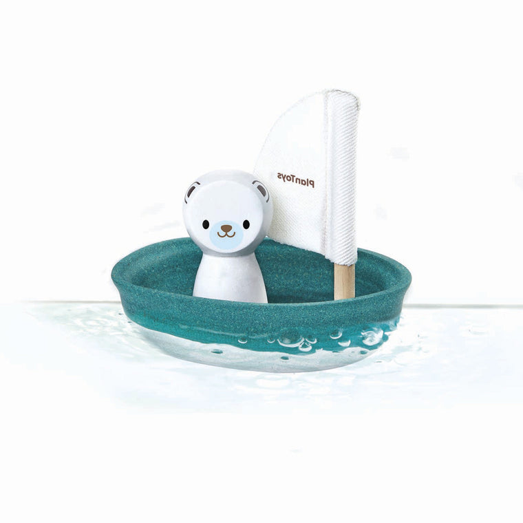 Plan Toys Sailing Boat & Polar Bear Bath Toy