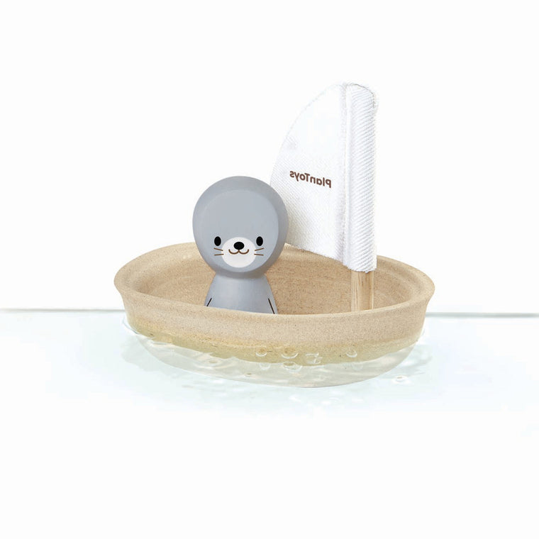 Plan Toys Sailing Boat & Seal Bath Toy