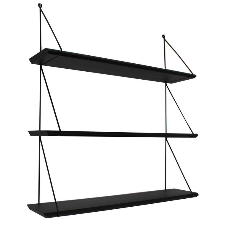 Rose in April Set of 3 'Babou' Shelves - Black